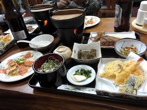 2 大山寺の旅館・夕食