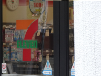 けいおん!聖地巡礼 セブンイレブン修学院前 修学院駅東側(北山通)
