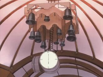 けいおん!聖地巡礼 JEUGIAさん(10GIAのモデル)楽器屋さん前 時計