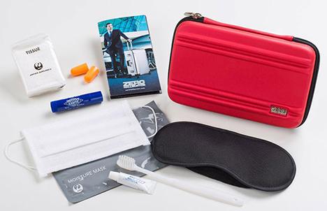 JALは、世界初「ゼロハリバートン」との共同企画のアメニティキットを採用!1