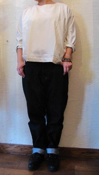 armen ネルシャツ白