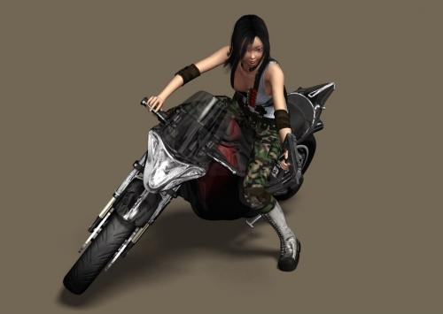 バイクの1