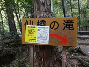 仙樽の滝注意
