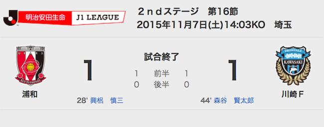 1107浦和1−1川崎