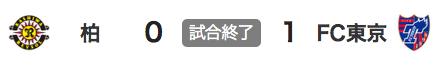 1107柏0-1東京