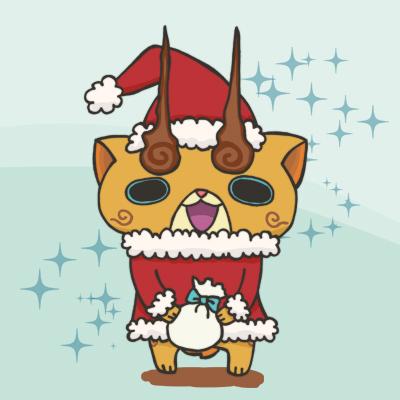 コマじろう サンタ クリスマス イラスト