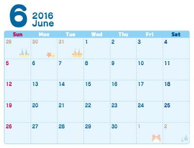 ... ウォッチ 2016年 カレンダー 6月 : 無料 カレンダー 印刷 : カレンダー