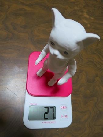 151027 27グラムの張り子猫