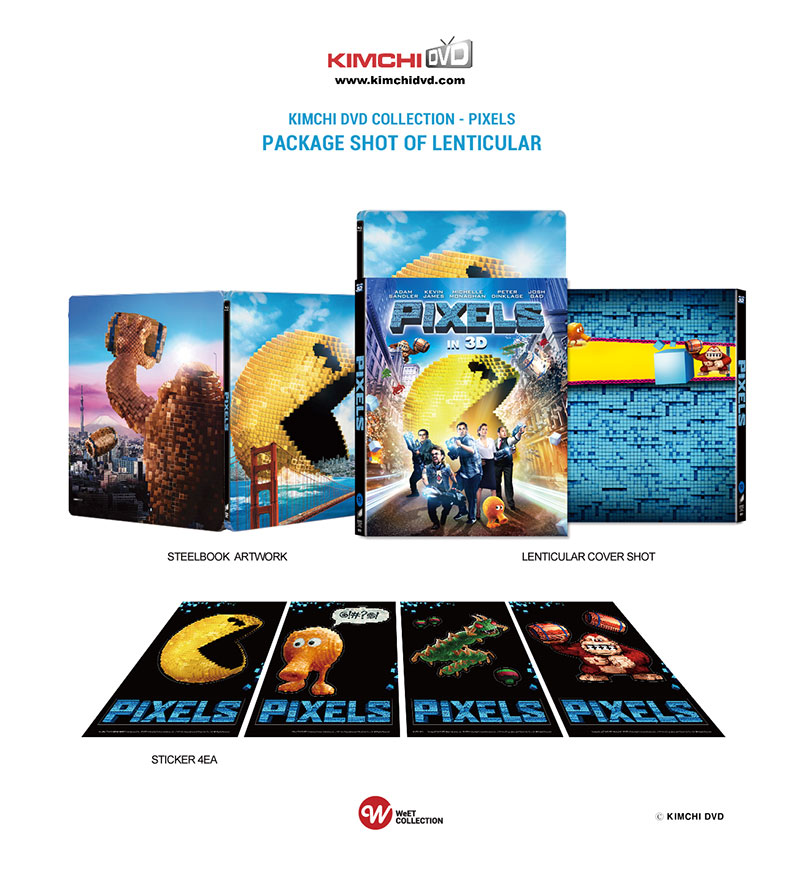KimchiDVD Collection Pixels Steelbook