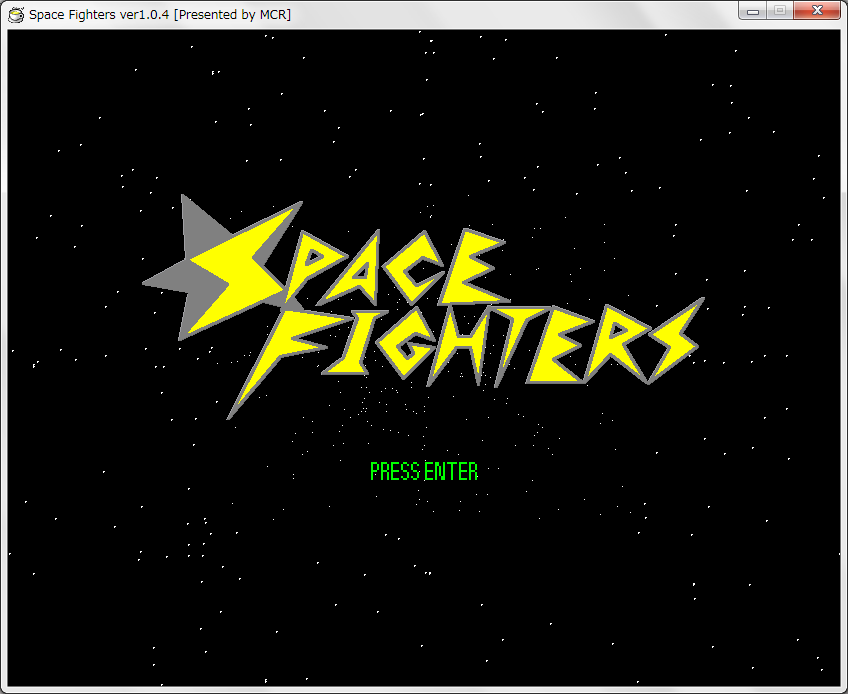 spacefightersタイトル