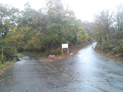 揖斐川川上り 林道塚線・冠山線分岐点