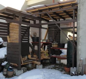 201511 ガーデンベンチを撤収