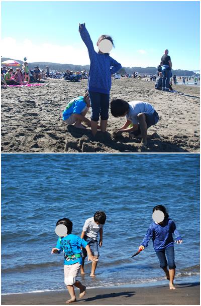 海で遊ぶ1
