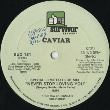 DG_CAVIAR_NEVER STOP LOVING YOU_201509