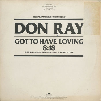 DG_DON RAY_GOT TO HAVE LOVING_201509