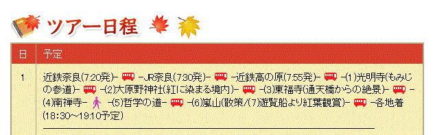 京都紅葉バスツアー