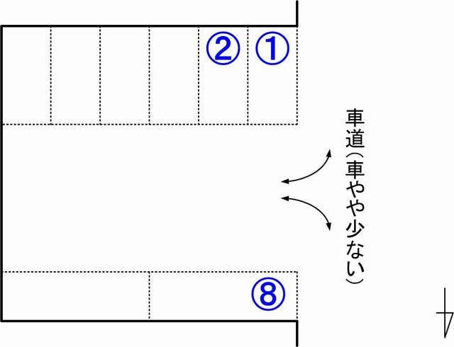 prestocoffee裏駐車場見取り図03