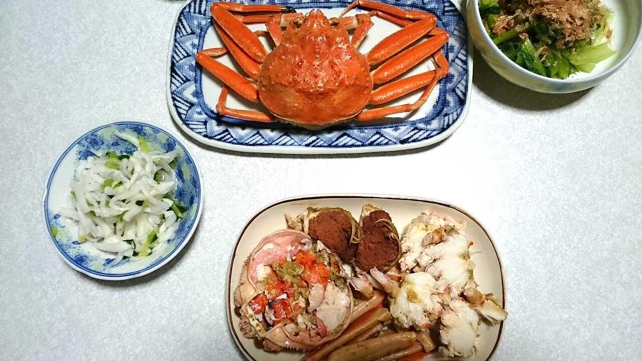 ボイル蟹とむき身