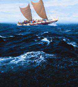 双胴船カヌー、国立民族学博物館