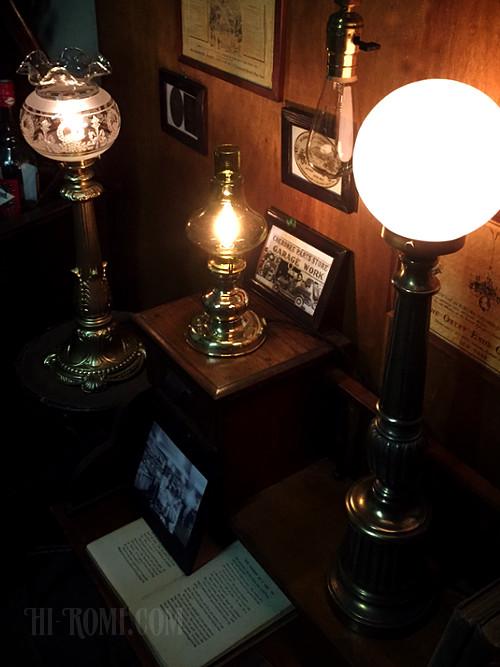 ガラス 気泡 アンティーク 照明 テーブルランプ ライト ヴィンテージ