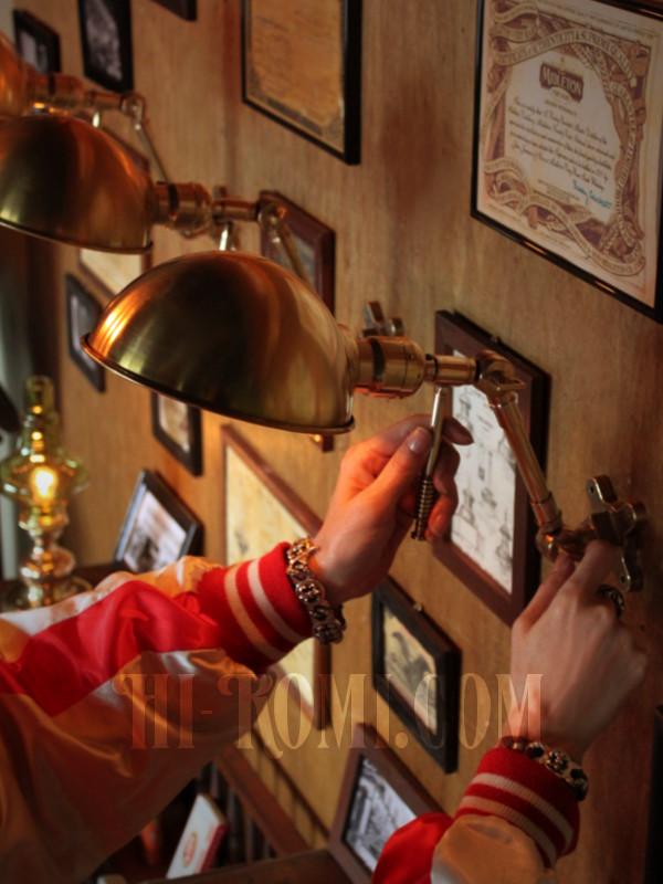 真鍮製ブラケット ウォールランプ 壁掛 照明 店舗設計 工業系 インダストリアル