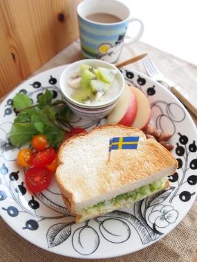 egg&lettuce toast sandwich