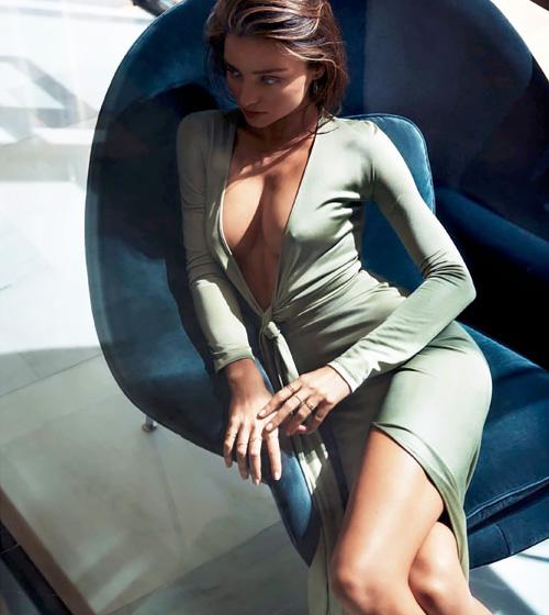 日本でも人気のスーパーモデル、ミランダ・カーのセクシーなセミヌード画像www