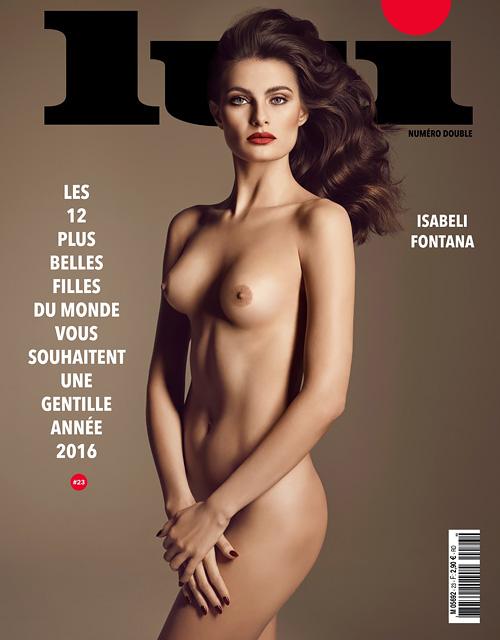 フランス男性誌「Lui」表紙に登場した12人のファッションモデルのトップレスヌードwww