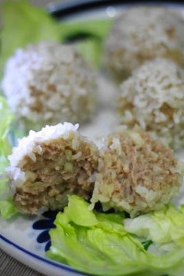 たっぷり玉ねぎのもち米シュウマイb