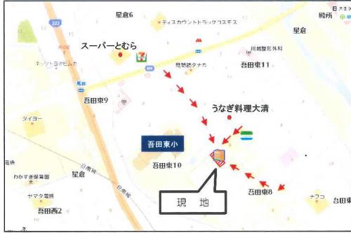 吾田東地図