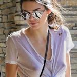 アメリカモデル Kendall Jenner(ケンダル・ジェンナー)のノーブラ乳首スケ画像