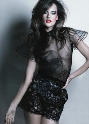 Alessandra Ambrosio in a photo shoot for Revue De Modes Magazine.
