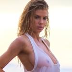 アメリカの巨乳美女モデル Charlotte McKinney(シャーロット・マッキニー)の濡れシャツスケ乳首画像