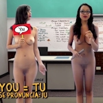 美人教師が全裸で英語を教えてくれる語学番組「Naked Language」というのがあるらしい