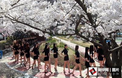韓国モデルクラス女子大生 ウォーキング授業画像 3