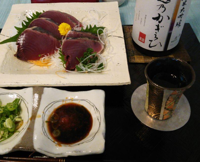 20151103ケンケン鰹タタキ