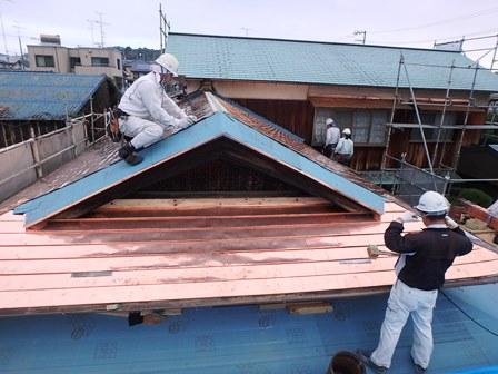 延喜 屋根銅板葺工事⑥