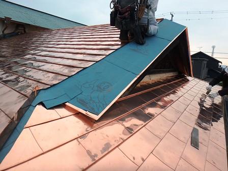 延喜 屋根銅板葺工事⑦