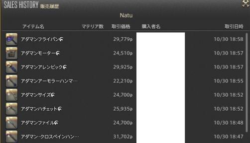 新生14 613日目 販売履歴01
