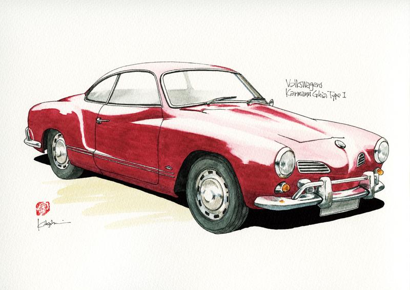 Volkswagen Karmannghia Type1 カーイラスト工房「studio04」