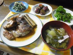 鯛のアラ煮定食
