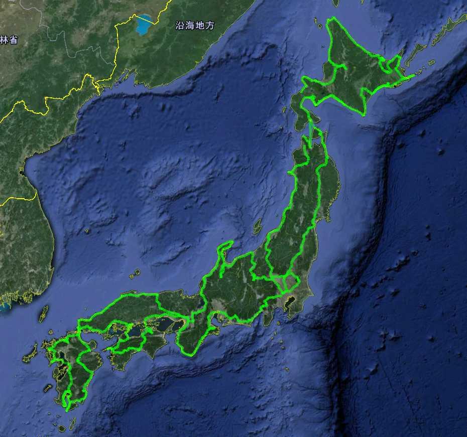 日本一周走行log