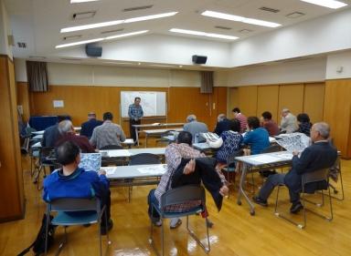 亀田さんは地名と小字を説明