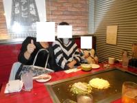 台湾女子お好み焼き初体験151102