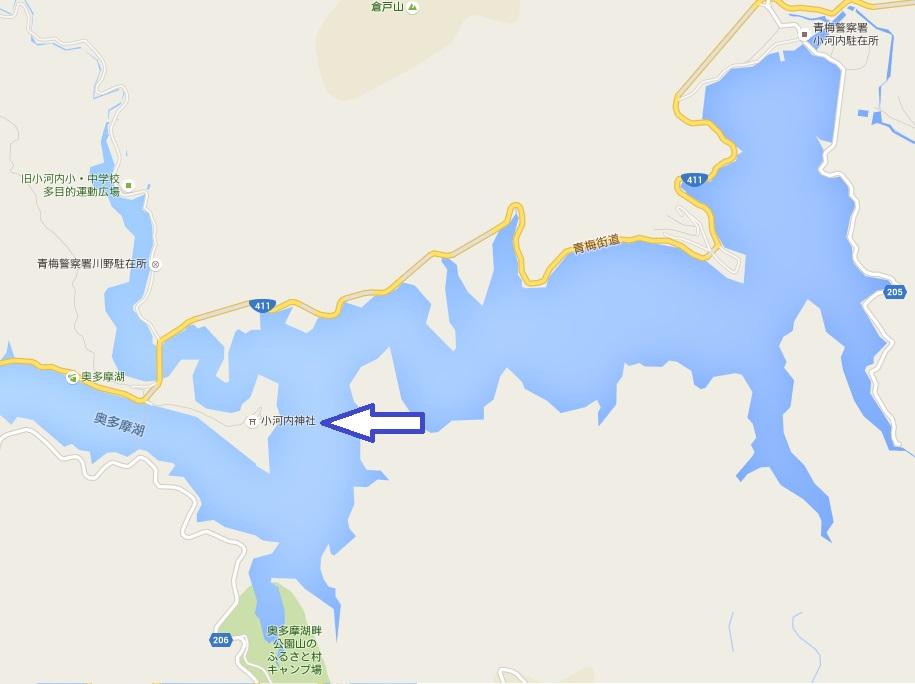 小河内神社地図