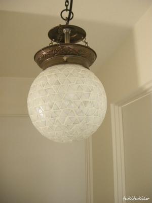 モザイクガラスランプボール型3