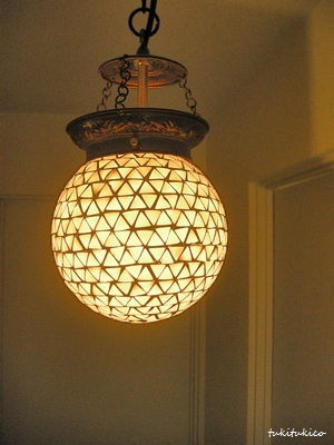 モザイクガラスランプボール型4