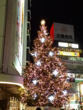 S20151206渋谷東急のクリスマスツリー