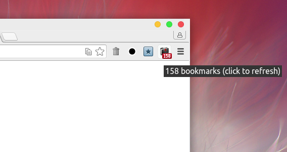 Über simple bookmark count Chrome拡張 ブックマーク数 カウント