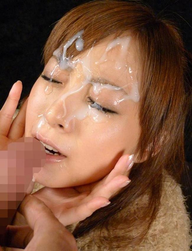 顔面射精画像 35